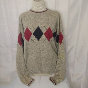 Tommy Hilfiger Men's Sweater Brown XL Red, Black